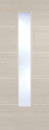 Santandor Glazed Ivory Laminate Internal Door